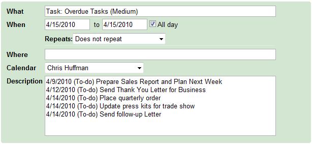 Overdue Tasks