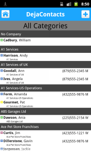 Group Contacts by Company