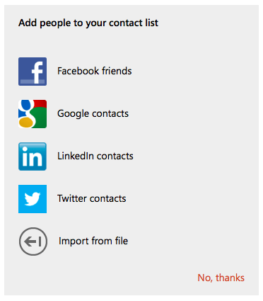 Add contacts to Outlook.com