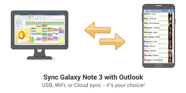How to sync Note 3 with Outlook