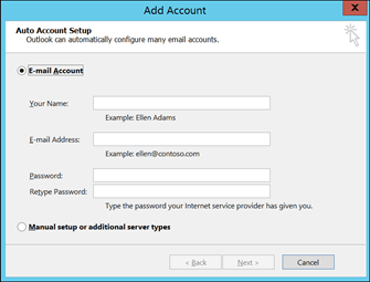 Add an email account to Outlook - Office Support