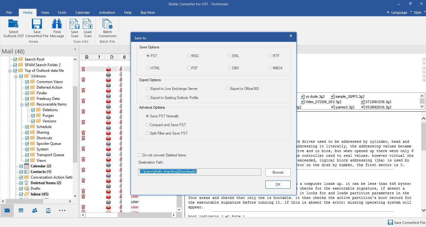 Outlook repair