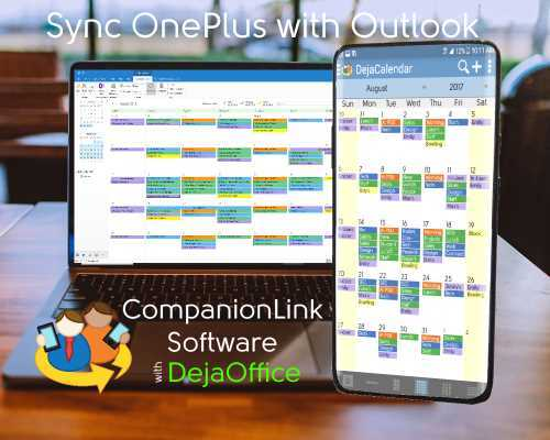 Outlook OnePlus Sync - Month View