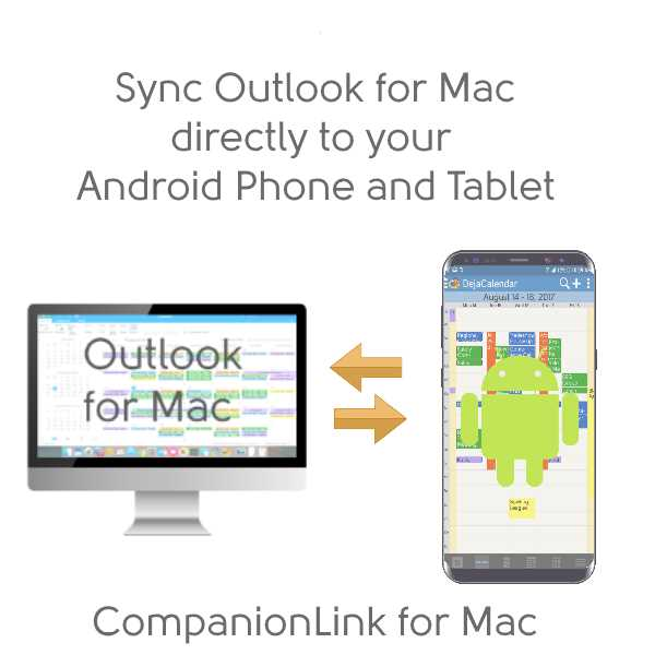 Sync Outlook for Mac with Android Phones and Tablets