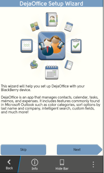 DejaOffice Wizard for BlackBerry 10