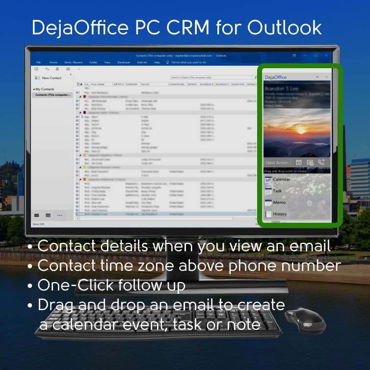 DejaOffice PC CRM for Outlook Add-In Detail