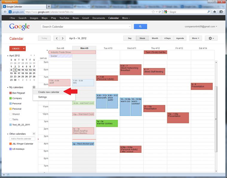Link Google Calendar With Outlook Calendar Template 2016