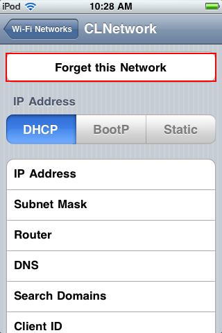 "Tap ""Forget this Network"
