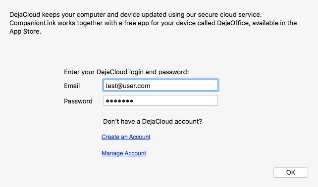 DejaDesktop for Mac DejaCloud