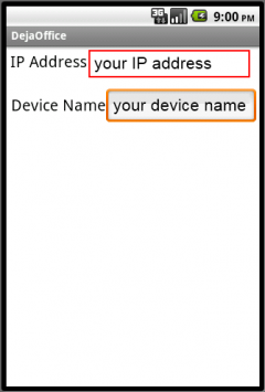 Take note of the IP address and Device Name